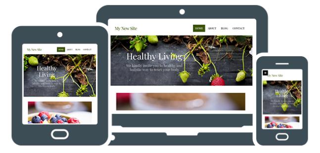 New Website Builder Responsive Design